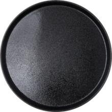 "Carlisle® 1600GR004 Griptite™2 Black 16"" Round Tray"