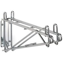 "Metro 2WD24C Super Erecta Double Wall Mount 24"" Chrome Shelf Supports"
