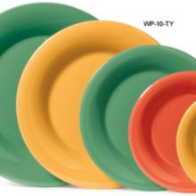 "G.E.T. WP-10-TY Mardi Gras Tropical Yellow 10-1/2"" Plate - Dozen"