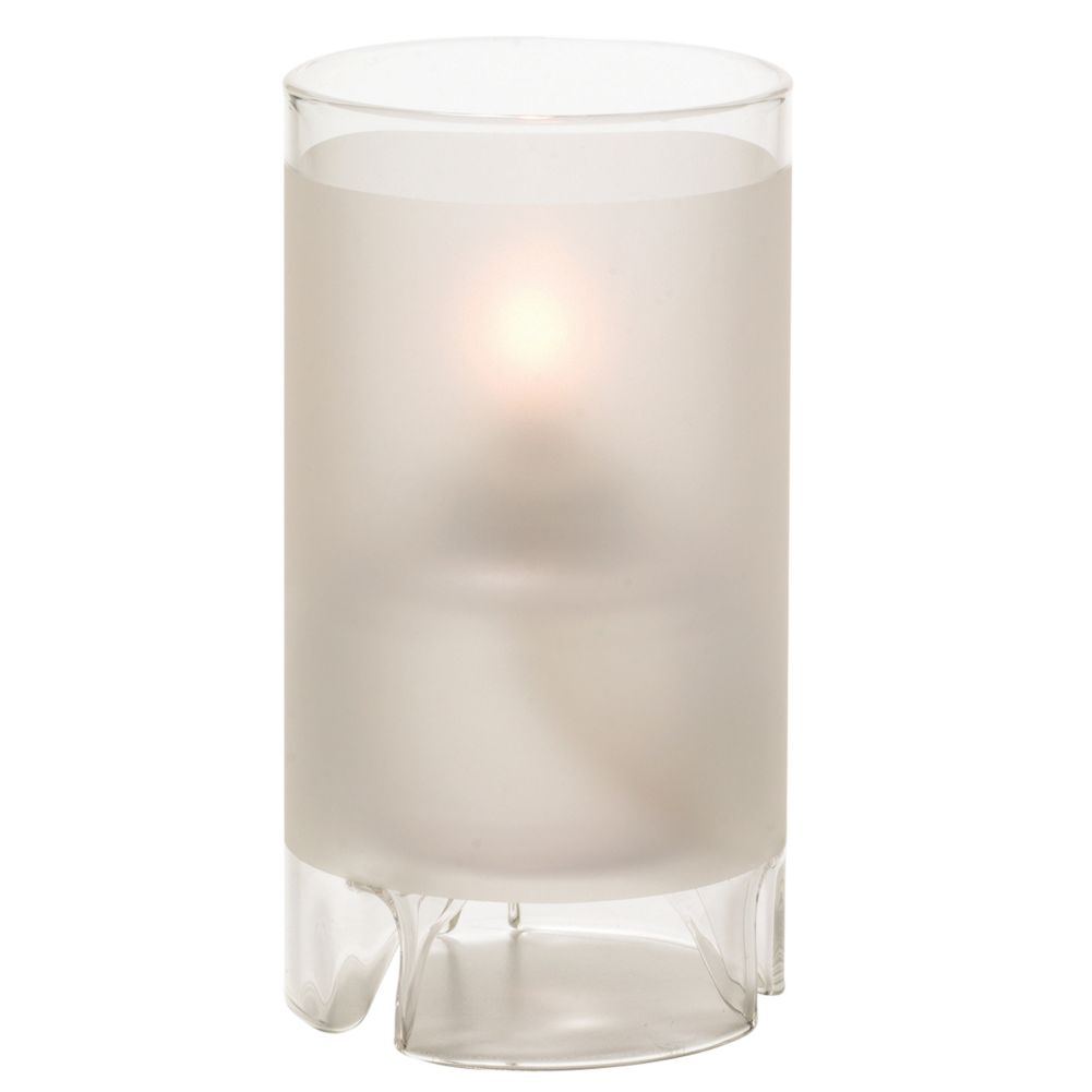 Hollowick® 48000F Large Satin Crystal Glass Cylinder™ Lamp