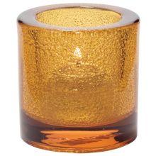 Hollowick® 5140AJ Amber Jewel Thick Glass Tealight Lamp