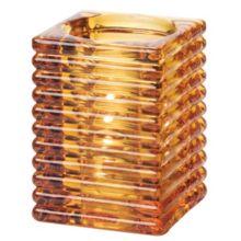 Hollowick® 1511A Amber Horizontal Rib Glass Rod Lamp