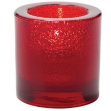 Hollowick® 5140RJ Ruby Jewel Thick Glass Tealight Lamp