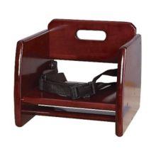 G.E.T. BS-200-M Mahogany Finish Wood Booster Seat