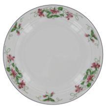 """Homer Laughlin 3851138 Seville Pink Violets 6.25"""" Plate - 36 / CS"""