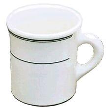 Homer Laughlin China 3001 Green Band 8.75 Oz. Coffee Mug - 36 / CS