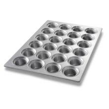 Chicago Metallic 43026 Glazed 24-Cavity Large Crown Muffin Pan