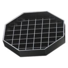 "Cal-Mil 308-6-13 Black Octagon 6"" Drip Tray"