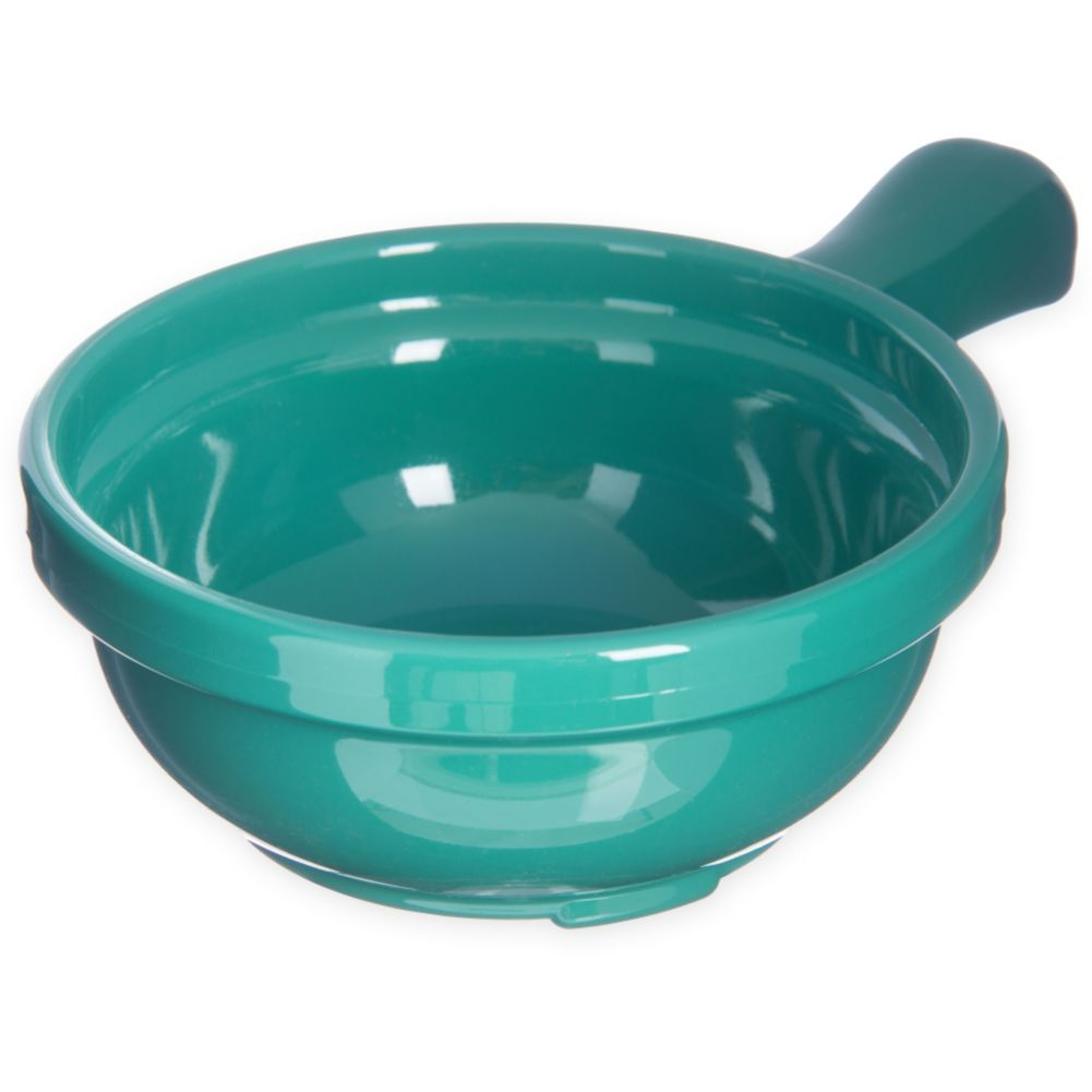 Carlisle® 700609 8 Oz. Meadow Green Handled Soup Bowl - Dozen