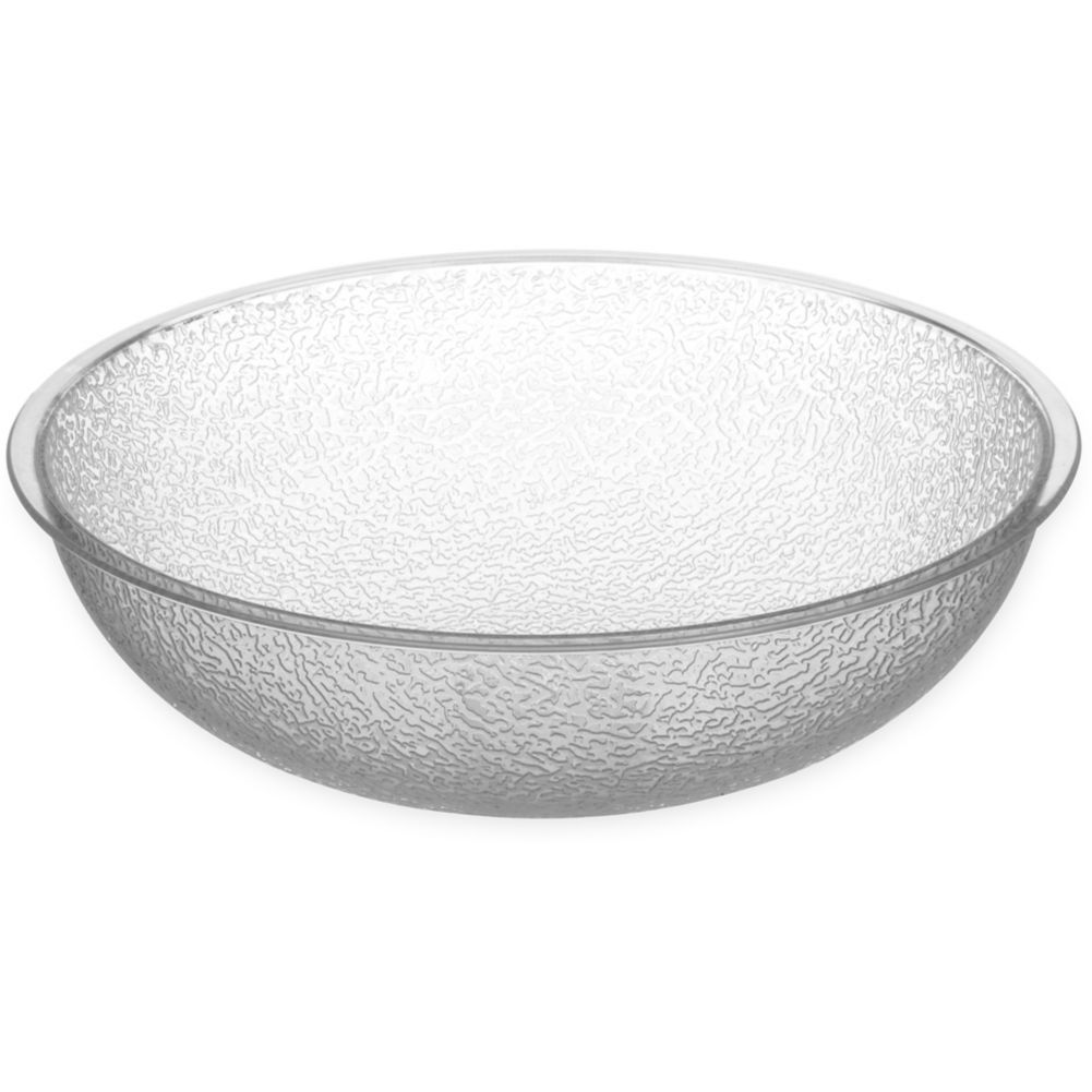 Carlisle® 721007 3 Qt. Clear Round Pebbled Bowl