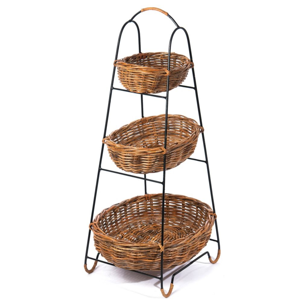 Skalny Baskets 9009 3-Tier Rattan Basket Display