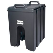Cambro 1000LCD110 Camtainer Black 11.75 Gal. Insulated Beverage Server