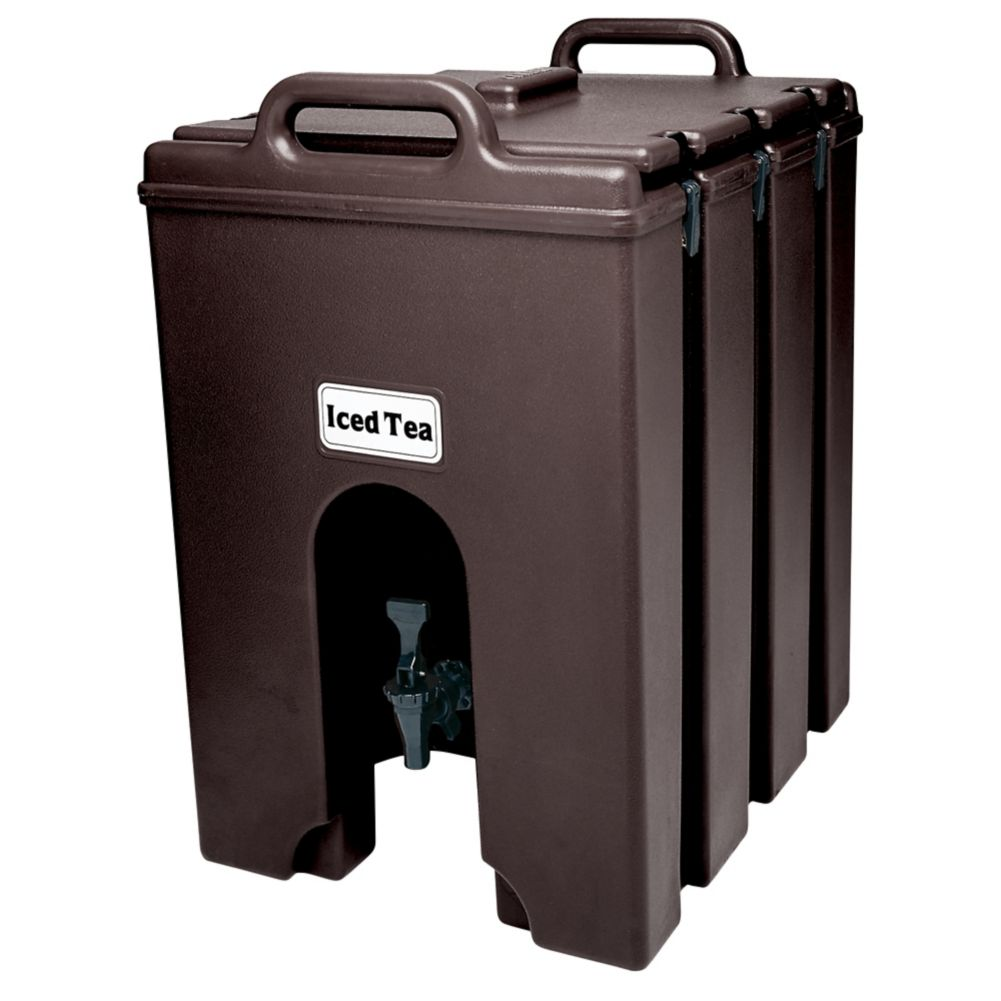Cambro 1000LCD131 Camtainer Brown 11.75 Gal. Insulated Beverage Server