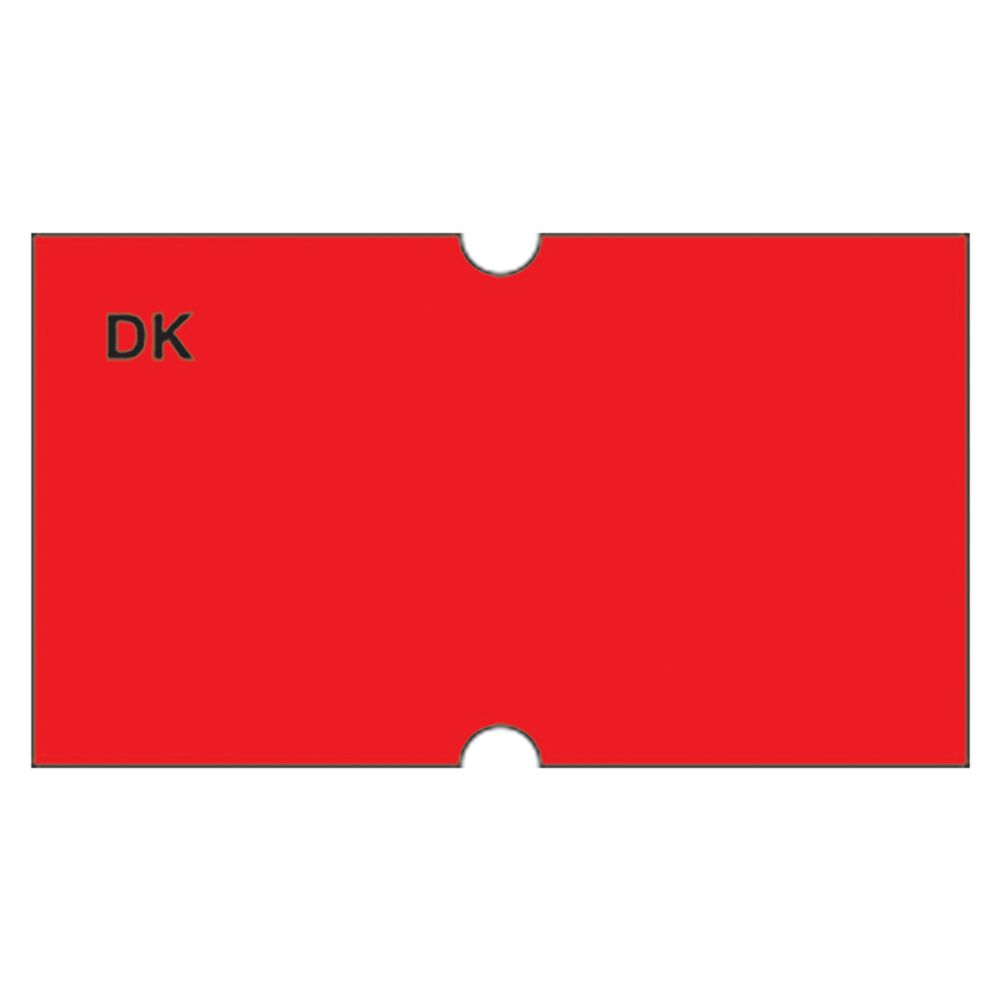 DayMark 110419 Fluorescent Red Label For DM-3 Label Gun - 8000 / PK
