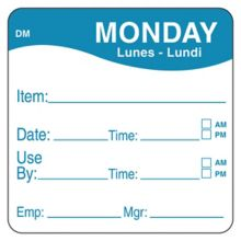 """DayMark 1100531 DissolveMark 2"""" Monday Use By Day Square - 250 / RL"""