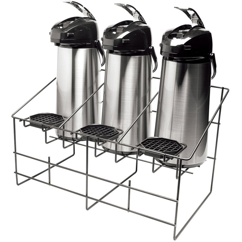 Service Ideas™ APR3BLC Black Steel Wire Rack for 3 Airpots
