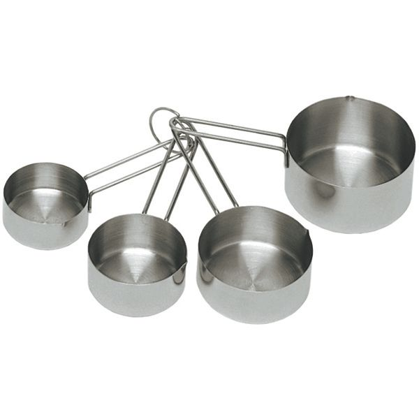 Update International MEA-CUP Heavy-Duty Stainless Measuring Cup Set