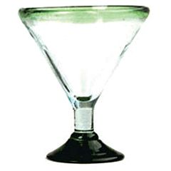 Aztecas Design 33XL Green Rim 24 Oz Margarita Glass - 12 / CS