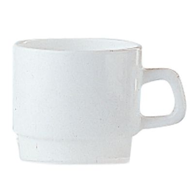 Arcoroc 25269 Restaurant White Glass 7.5 Oz. Cup - 48 / CS