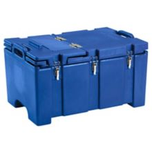 Cambro® 100MPCHL186 Navy Blue Camcarrier® with Hinged Lid