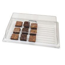 "Cambro RD1220CW135 Camwear® Clear 12"" x 20"" Rectangular Cover"