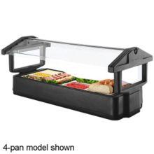 Cambro 6FBRTT110 Black 5-Pan Tabletop Food Bar with Sneezeguard