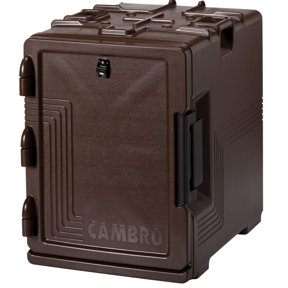 Cambro UPCS400131 S-Series Dark Brown Full Size 60 Qt Food Pan Carrier
