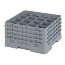 Cambro® 16S900151 Camrack® Soft Gray 16 Compartment Glass Rack