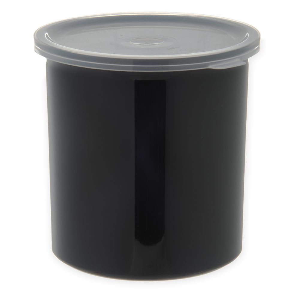 Carlisle® 34103 Poly-Tuf™ 1.2 Qt. Black Crock with Lid