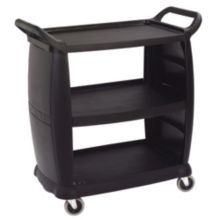Carlisle® CC203603 Black Bussing and Transport Cart