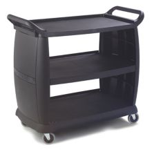 Carlisle® CC224303 Large Black Bussing and Transport Cart