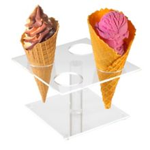 Cal-Mil 396 Clear 4 Pedestal Waffle Cone Holder