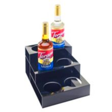 Cal-Mil 677 Black 2-Tier 6 Syrup Bottle Organizer