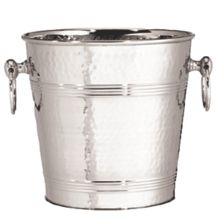 TableCraft® 5198 S/S 8 Qt. Wine Bucket with Hammered Finish