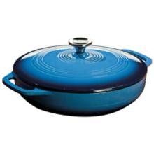 Lodge® EC3CC33 Blue 3 Quart Cast Iron Dutch Oven with Lid