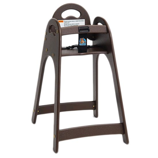 Koala Kare KB105-09 Designer Brown High Chair with Rounded Top / Sides