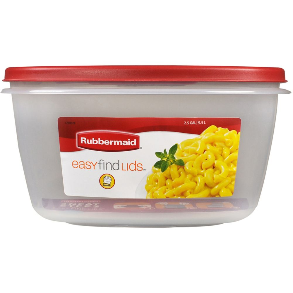 Rubbermaid® 1777164 Chili Red 2.4 Gal. Rectangle Storage Container