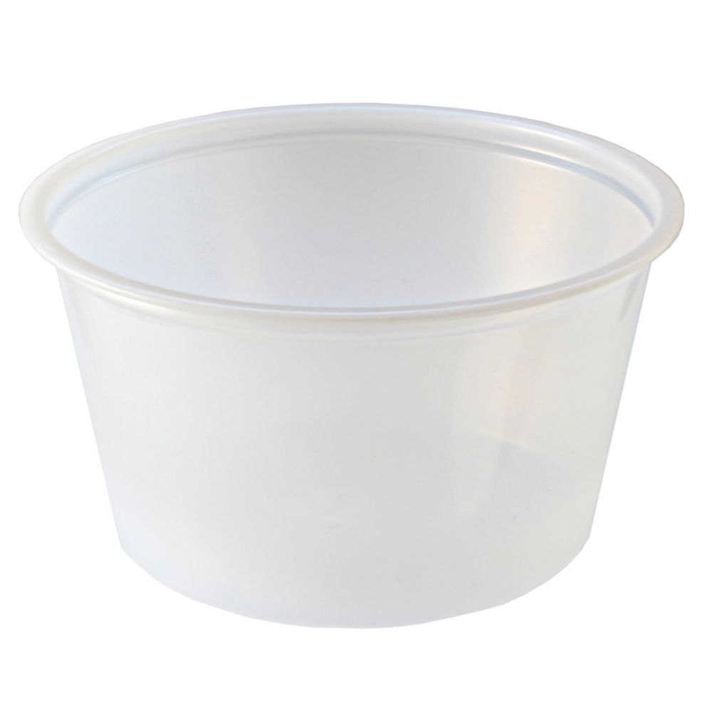 Fabri-Kal 9500517 Translucent 4 Ounce Plastic Portion Cup - 2500 / CS