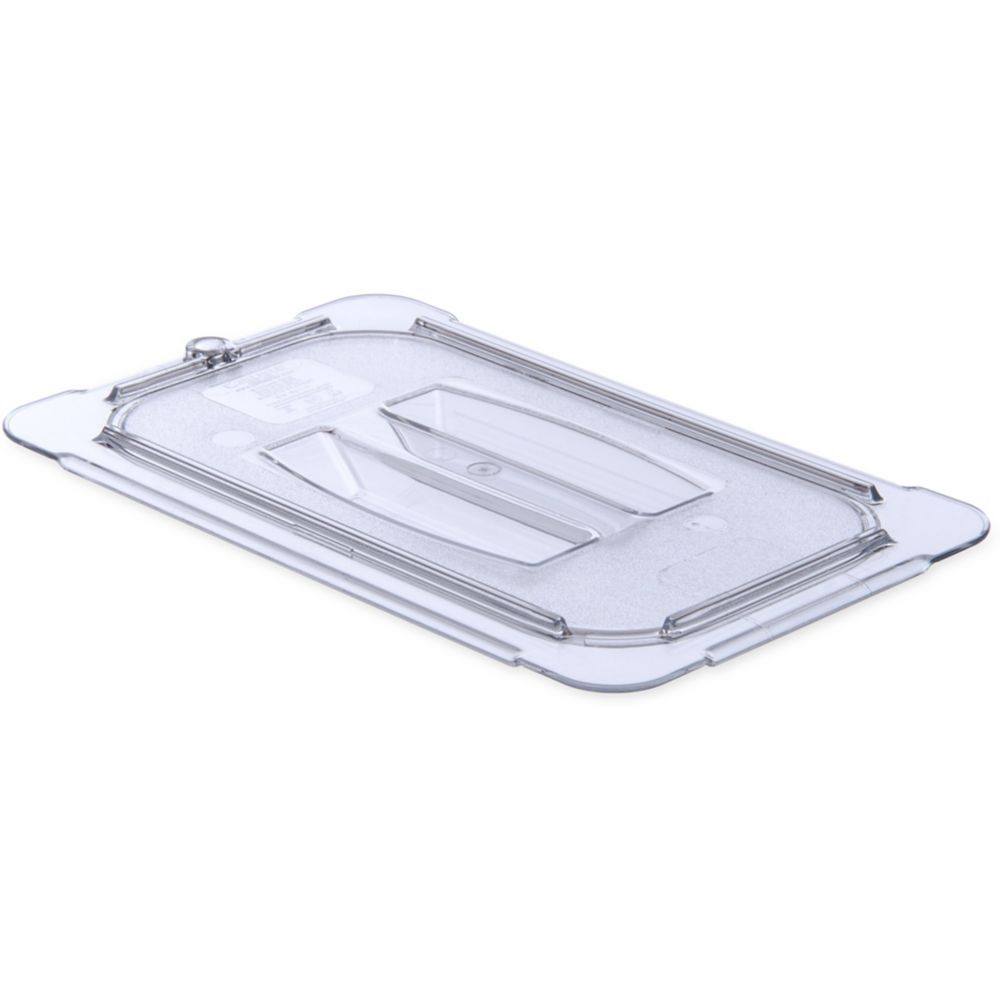 Carlisle® 10290U07 StorPlus Clear 1/4-Size Handled Food Pan Lid