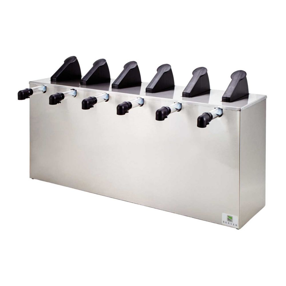 Server Products 07080 Stainless Steel 6 Pump Express™ Server