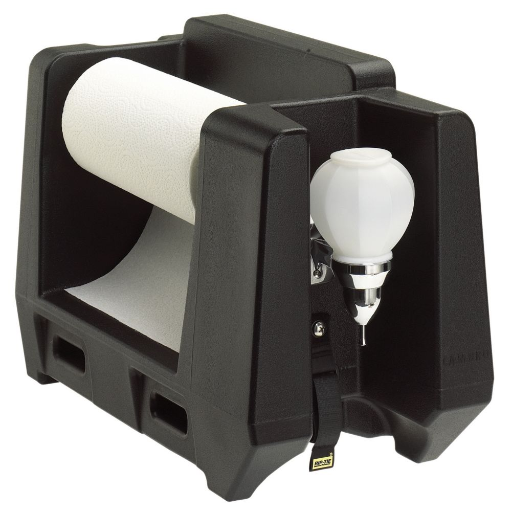 Cambro HWAPR110 Black Handwash Accessory with Paper Towel Dispenser
