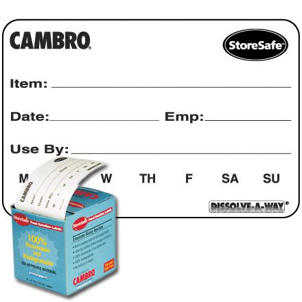 Cambro® 23SLB6250 StoreSafe® Food Rotation Labels - 250 / RL