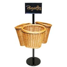Mobile Merchandisers BS36/3 3-Basket Display Rack for Baguettes - Kit