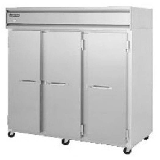 Continental 3R Aluminum 70 Cu Ft Three-Section Reach-In Refrigerator