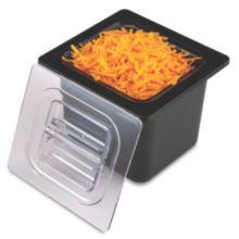 San Jamar® CI7001BK Chill-It® Black 1/6-Size Food Pan
