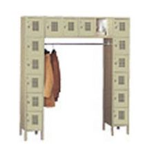 Kelmax 4K4731 6 Tier Locker With 16 Boxes and Garment Bar