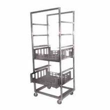 "Kelmax 4H0743 Mobile 33.5 x 29 x 79"" Crisping Produce Cart"