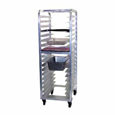 "Kelmax 4H1238 Aluminum Universal Pan Rack with 5"" Poly Casters"