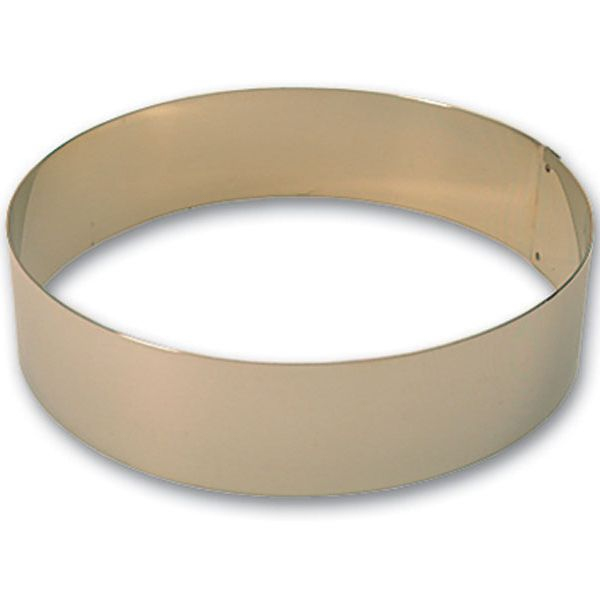 "Matfer Bourgeat 371807 S/S 9-1/2"" x 2-3/8"" Ice Cake Ring"