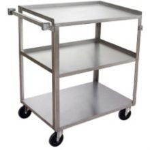 Channel Mfg. US1827-3 S/S Utility / Bussing Cart with 3 Shelves